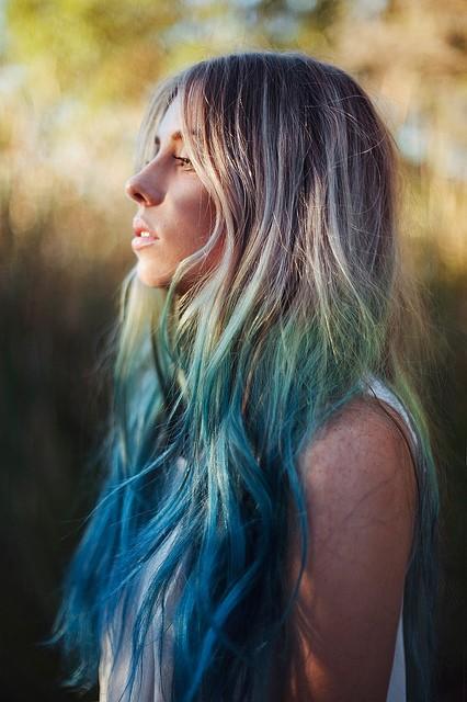 Ombre Hair |... Ombre Blue